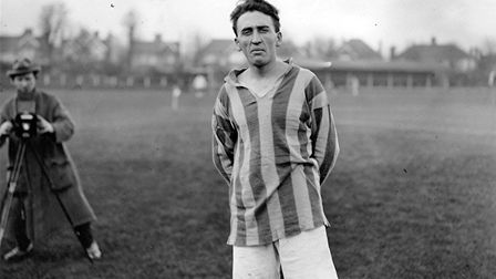 Billy Minter at Clarence Park during the 1922-23 season when St Albans City were members of the Athe