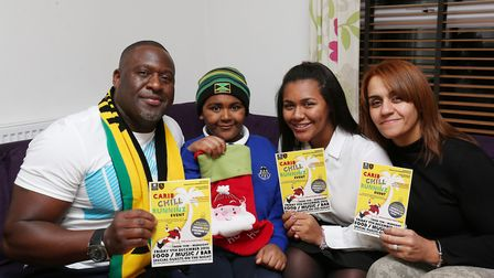 Michael, Noah, 7, Savannah, 13 and Michelle Wallace are organising a caribbean themed fundraiser for