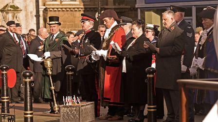 Remembrance Sunday service in Huntingdon. Picture: ARCHANT