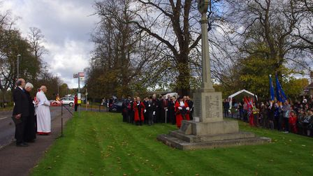 REMEMBRANCE: The Remenbrance Day service at Godmanchester