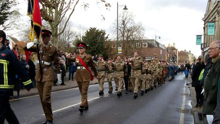 In total, 25 cadets and four adults from the Royston Army Cadet Force took part in the parade. Pictu