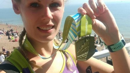 CHALLENGE: Claire Webster has run 1,310 miles and raised £1,940 over the last year
