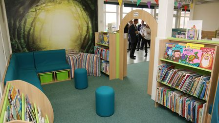 """""""The Book Wood"""", the new library at Sauncey Wood Primary School. Picture: Danny Loo"""