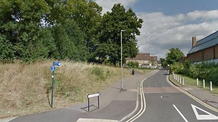 Part of the stretch of tbe Alban Way between Morrisons and Hill End Lane. Photo: GOOGLE