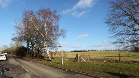 Farmland bordering Common Lane on which Herts county council is keen to build a new secondary school