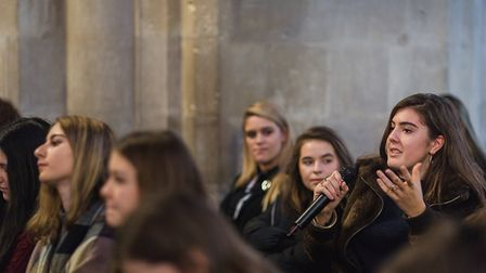 Last year's Sixth Form debate at St Albans Cathedral [Picture: Emma Collins]