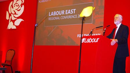 Jeremy Corbyn attended the Labour Party's East of England conference, held in Huntingdon. Picture: A