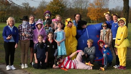 Staff and years five to eight pupils of Roysia Middle School dressed up for Children in Need. Pictur