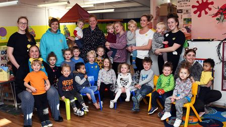 Children in Need fundraising at Crackerjacks nursery in Eaton Socon. Picture: ARCHANT