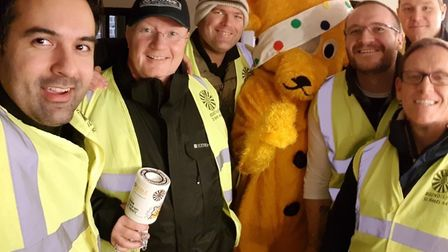 St Neots Round Table collected money for Children in Need