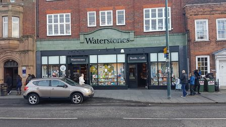 The branch of Waterstones on St Peter's Street in St Albans, from which Sanhow stole £1,100-worth of