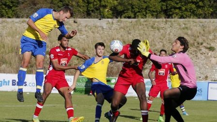 Sam Merson got the only goal for St Albans City as they lost to Bognor Regis Town. Picture: LEIGH PA