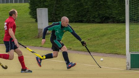 Tim Jones strikes for St Ives 2nds in their victory against Cambridge City 5ths. Picture: J BIGGS PH