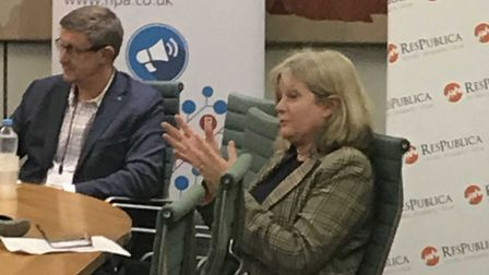 St Albans MP Anne Main hosting a discussion on integrating pharmacies into NHS functions. Photo supp