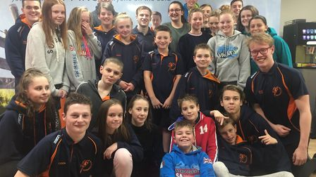 The St Ives Swimming Club squad which sampled Arena National League success.