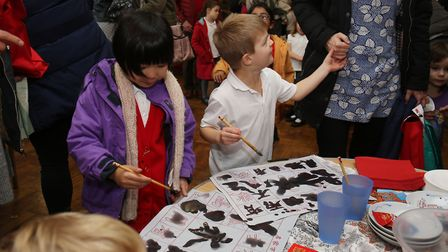 The Chinese stall at the Bernards Heath Infant and Nursery School Global Families' event. Picture: D