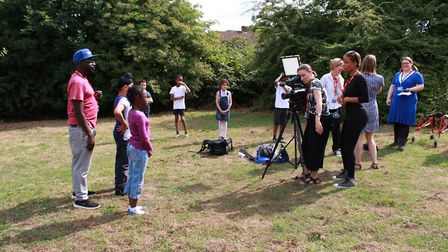 'Up For It?' filming at Heathlands School. Supplied by the production team.