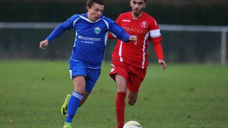 Jack Mace in action for London Colney.Picture: KARYN HADDON