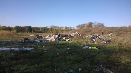 Photos sent in of the Bricket Wood field after the travellers had left.