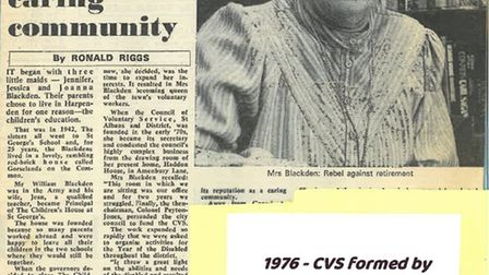 An extract from the Herts Advertiser in 1976 on CVS St Albans' founding.