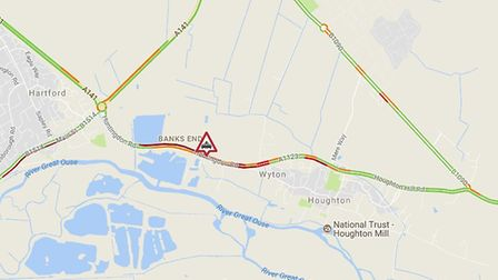 Huntingdon Road, in Wyton, is closed both ways between the A141 Hartford roundabout and Houghton.