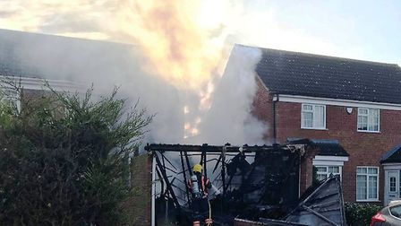 The scene of the house fire, in Meadowsweet. Picture: ROBERT STANTON