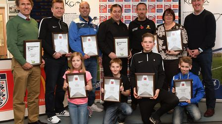 Some of the winners and nominees at the Hunts FA Community Awards bash. Picture: ARCHANT