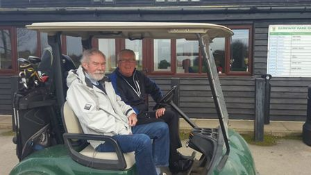 Patrick Thornton, left, with Paul Milne-Smith from Barkway Park Golf Club. Picture: Margaret House