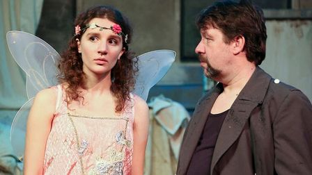 Marlon Gill, right, as Rooster in Jerusalem at The Abbey Theatre in St Albans. [Picture supplied by