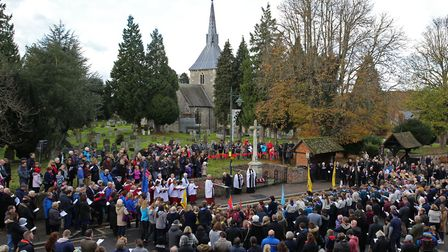 Remembrance Sunday service in Wheathampstead. Picture:John Bethell