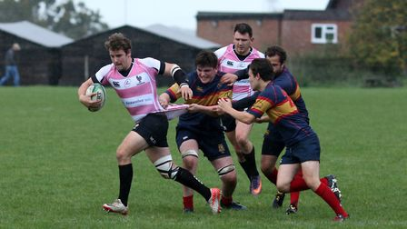 Jimmy Speirs was a try scorer for Harpenden against Belsize Park. Picture: KEVIN LINES