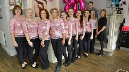 The Lasting Impressions team celebrating 20 years in business.