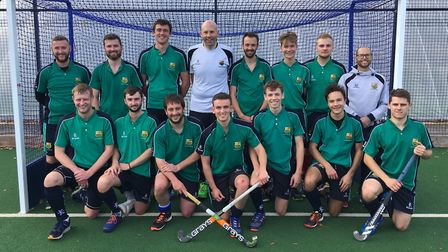 The St Ives Men's 1sts side, pictured ahead of a recent game, are back row, left to right, Garth Moo