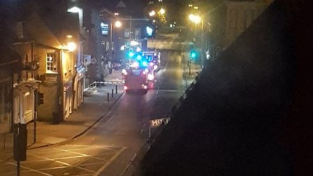 Fire crews tackled a chimney blaze at Wetherspoon in Royston. Picture: Nick King