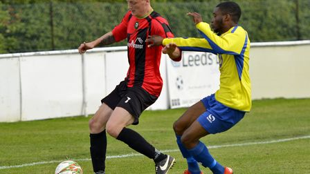 Liam Rodden was part of the Huntingdon Town defence that earned plaudits from manager Jimmy Brattan.
