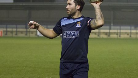 Jonny Hall starred in his AFC Barley Mow debut. Picture: CLAIRE HOWES
