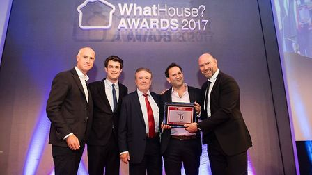 The Meyer Homes team picked up two awards at the national WhatHouse? Awards 2017