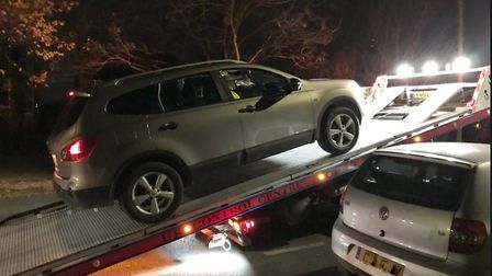This car was stopped on the A414 in London Colney for having no insurance. Picture: BCH Road Polici