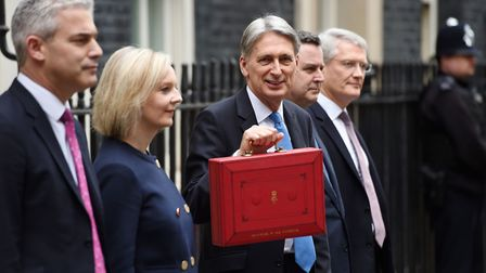 (From the left) Economic Secretary to the Treasury Stephen Barclay, Chief Secretary to the Treasury