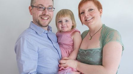 Mike and Kirsty Bradbrook with their daughter Lisee - Mike