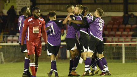 Will St Albans City be celebrating after the second round of the FA Trophy? Picture: BOB WALKLEY