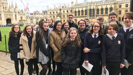 Melbourn students went along to BBC Carols from Kings rehearsals in Cambridge. Picture: MVC