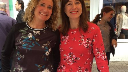 Michelle Lake and Becky Alexander, authors of Packed, at the St Albans Food and Drink Festival.