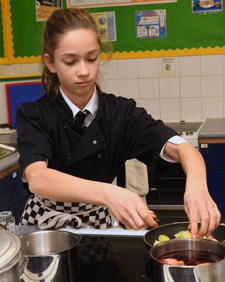 A cookery competition was held at Hinchingbrooke School, in Huntingdon. Picture: ARCHANT.