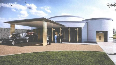 Design proposal for the crematorium in Huntingdon, which was backed by the council.