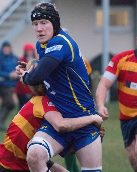 Tom Watts touched down during St Ives' rout of Stockwood Park. Picture: PAUL COX