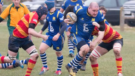Duncan Williams scored two tries in St Ives' victory at Biggleswade. Picture: PAUL COX