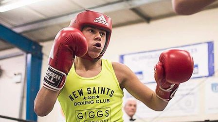 Alfie Smith of New Saints ABC during his victory at the club's home show. Picture: LUCY NICOLE PHOTO