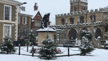 This snowy scene was taken in Huntingdon by Lesley Dixon.