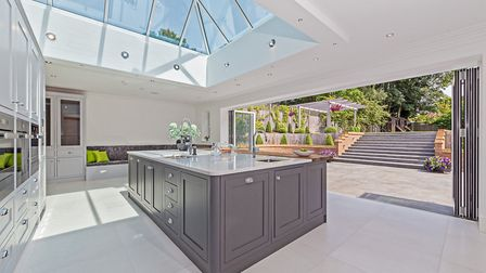 The spacious kitchen/breakfast room leads out to the back garden